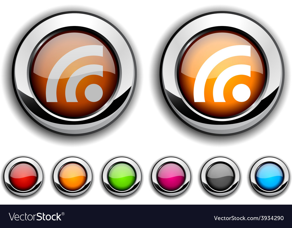 Rss button vector | Price: 1 Credit (USD $1)