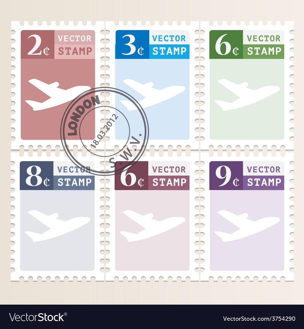 Stamp vector | Price: 1 Credit (USD $1)