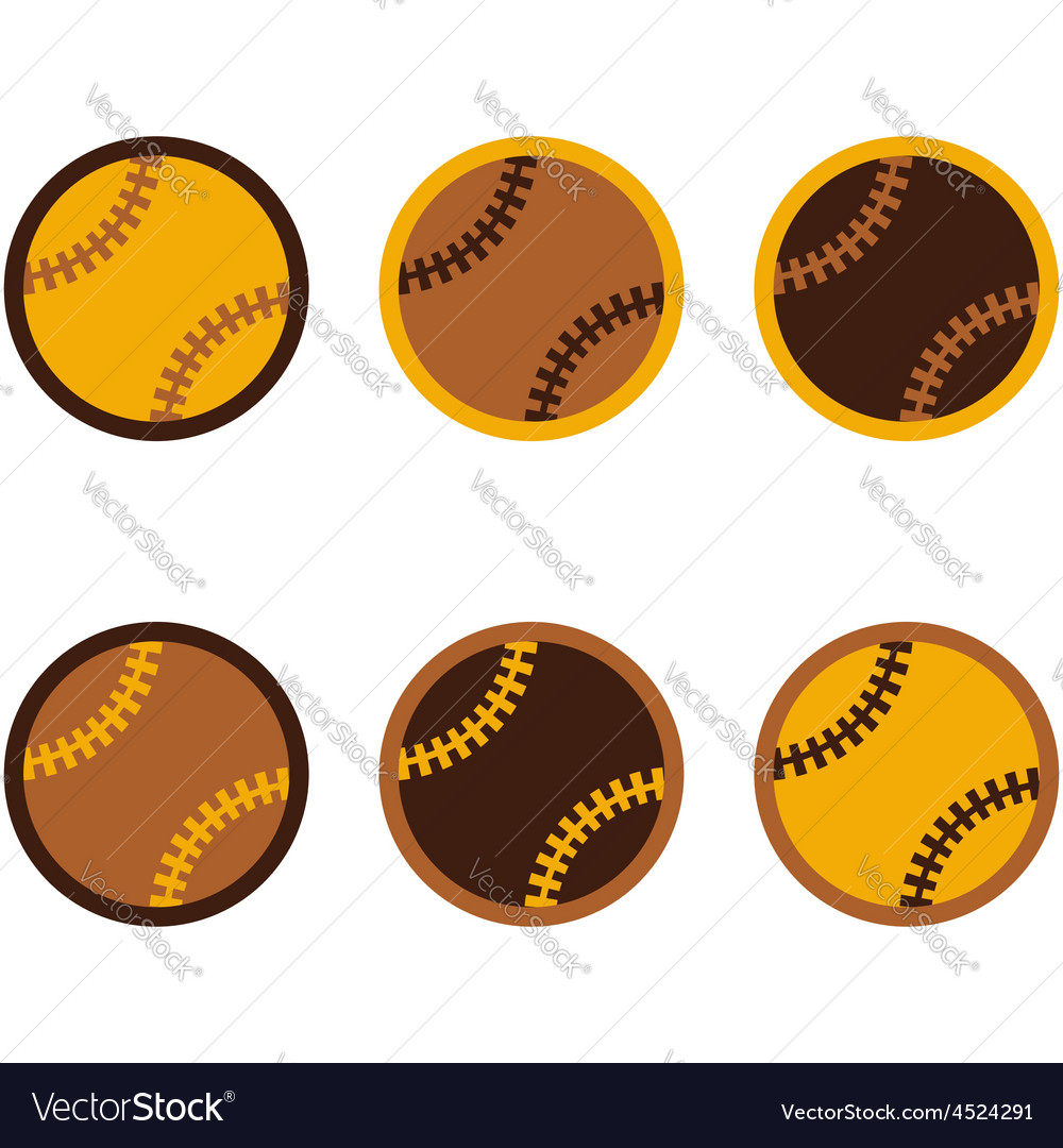 Baseballs flat design vector | Price: 1 Credit (USD $1)