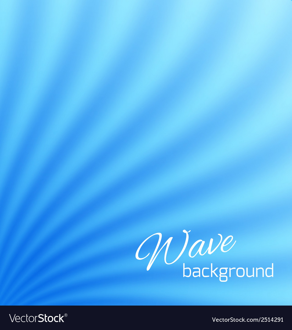 Blue abstract smooth light lines background vector | Price: 1 Credit (USD $1)