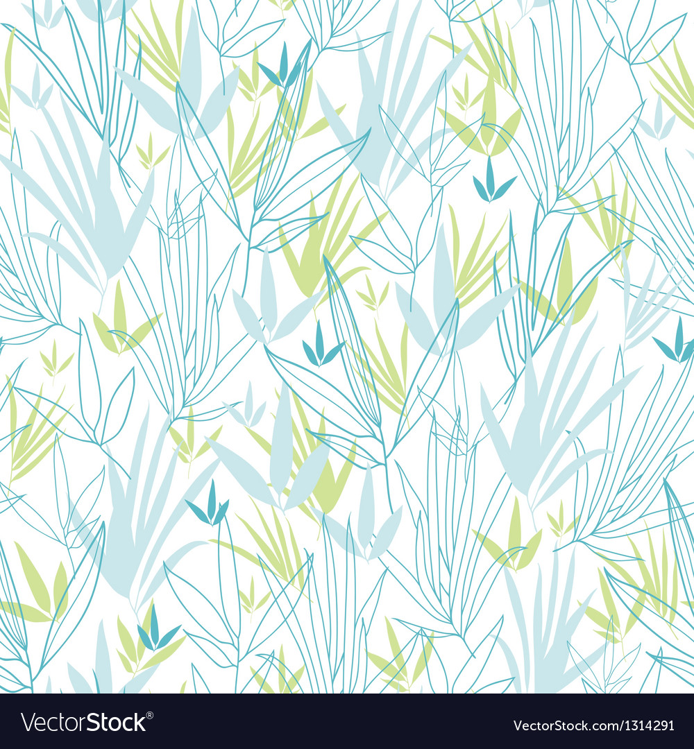 Blue bamboo branches seamless pattern background vector | Price: 1 Credit (USD $1)