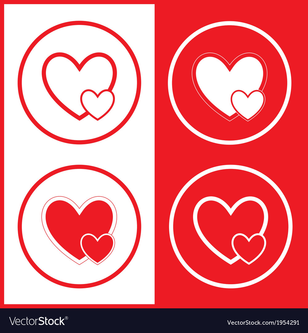 Careful heart icons vector | Price: 1 Credit (USD $1)