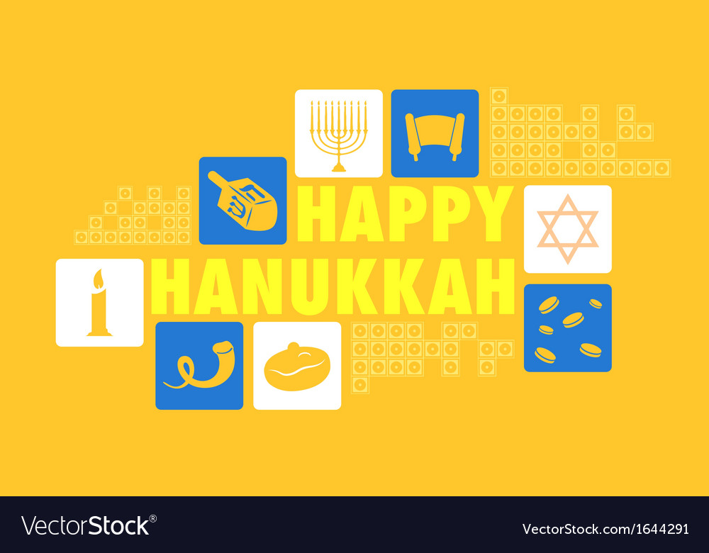 Happy hanukkah background vector | Price: 1 Credit (USD $1)