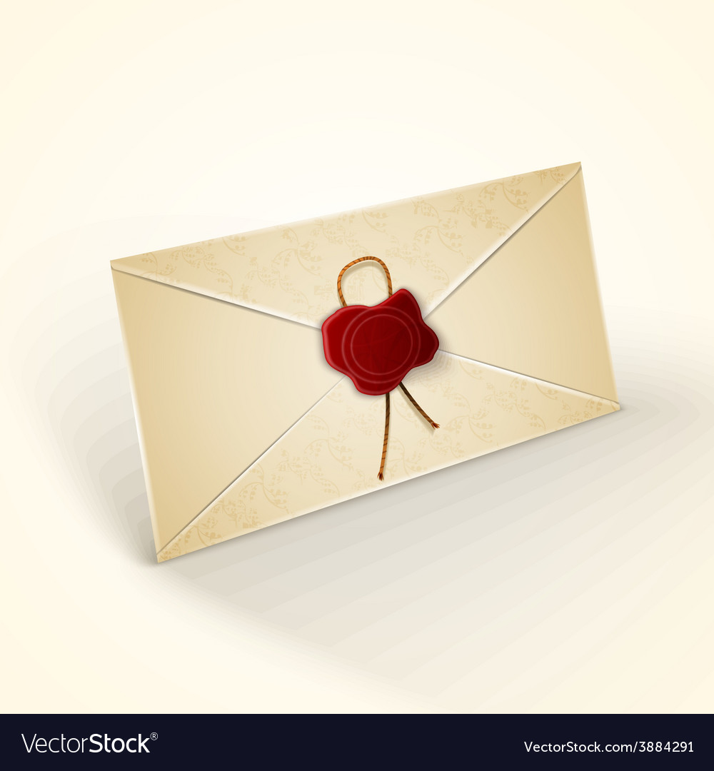 Old vintage style envelope vector | Price: 1 Credit (USD $1)