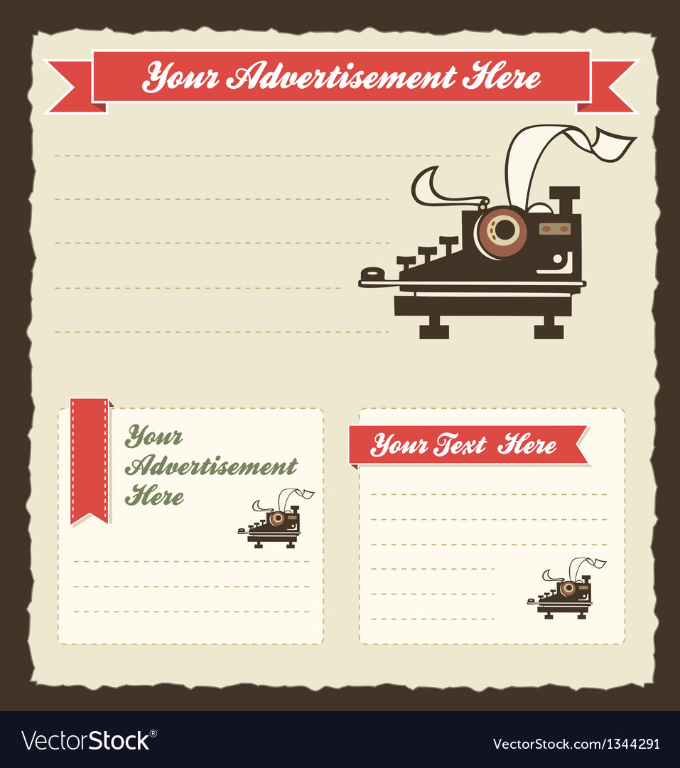 Retro advertisement templates vector | Price: 3 Credit (USD $3)