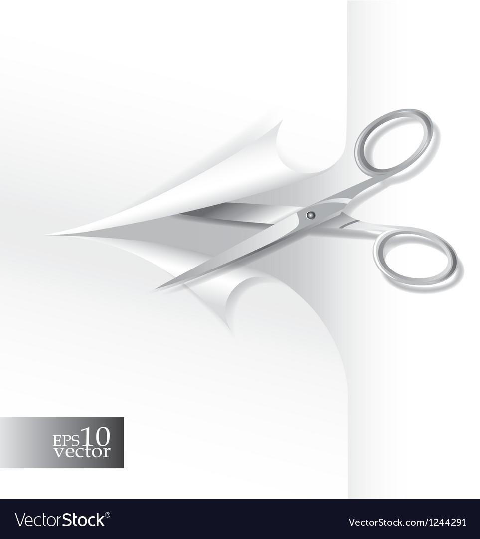 Scissors wih paper sheet vector   Price: 1 Credit (USD $1)