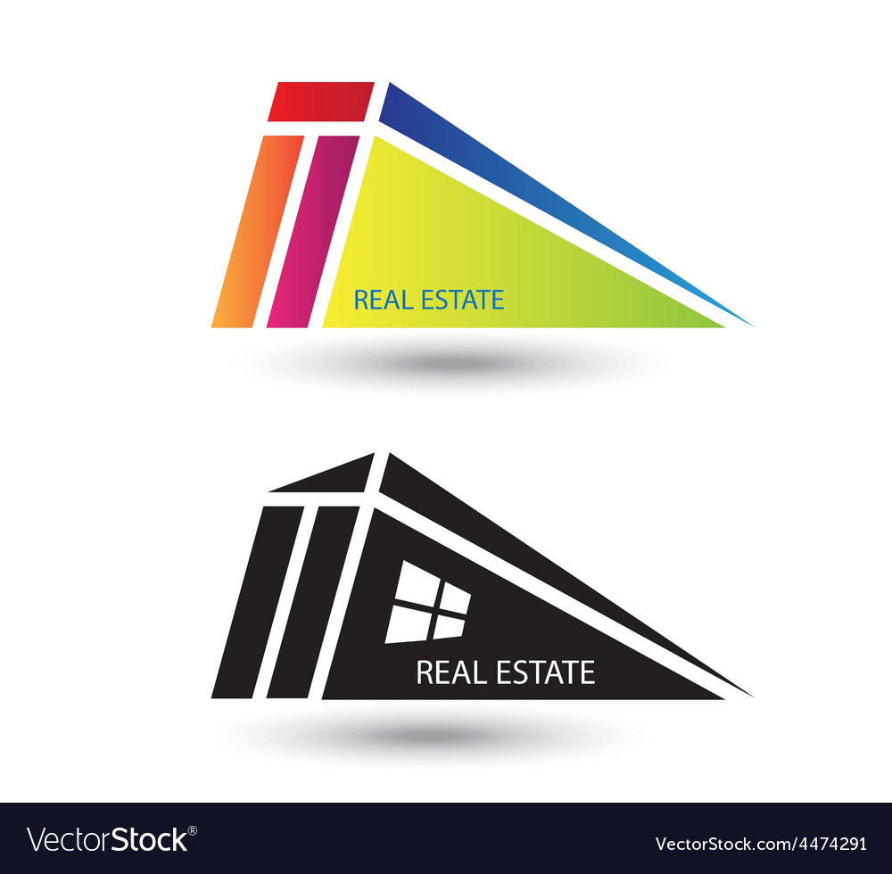 Set of icons for real estate business on white bac vector | Price: 1 Credit (USD $1)