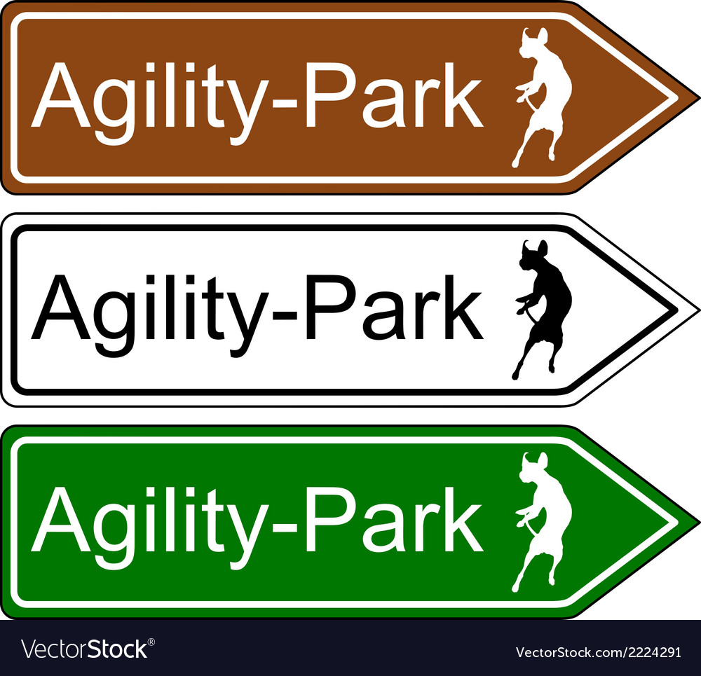 Sign agility park for dogs vector | Price: 1 Credit (USD $1)