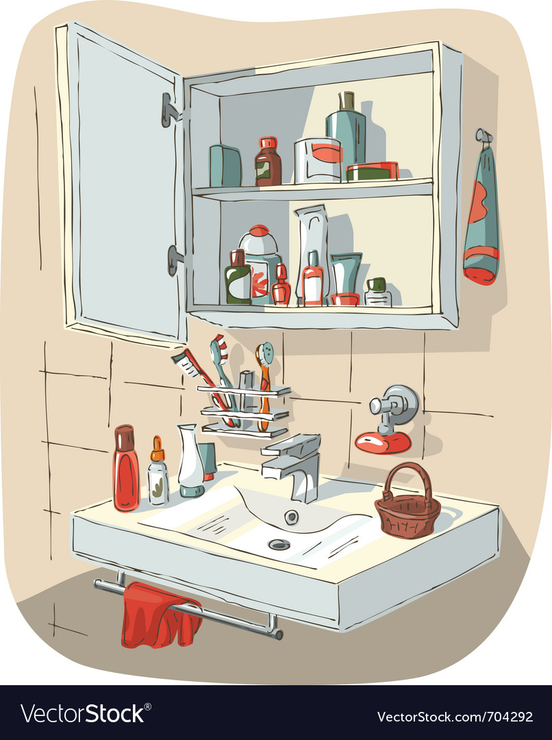 Bathroom interior vector | Price: 3 Credit (USD $3)