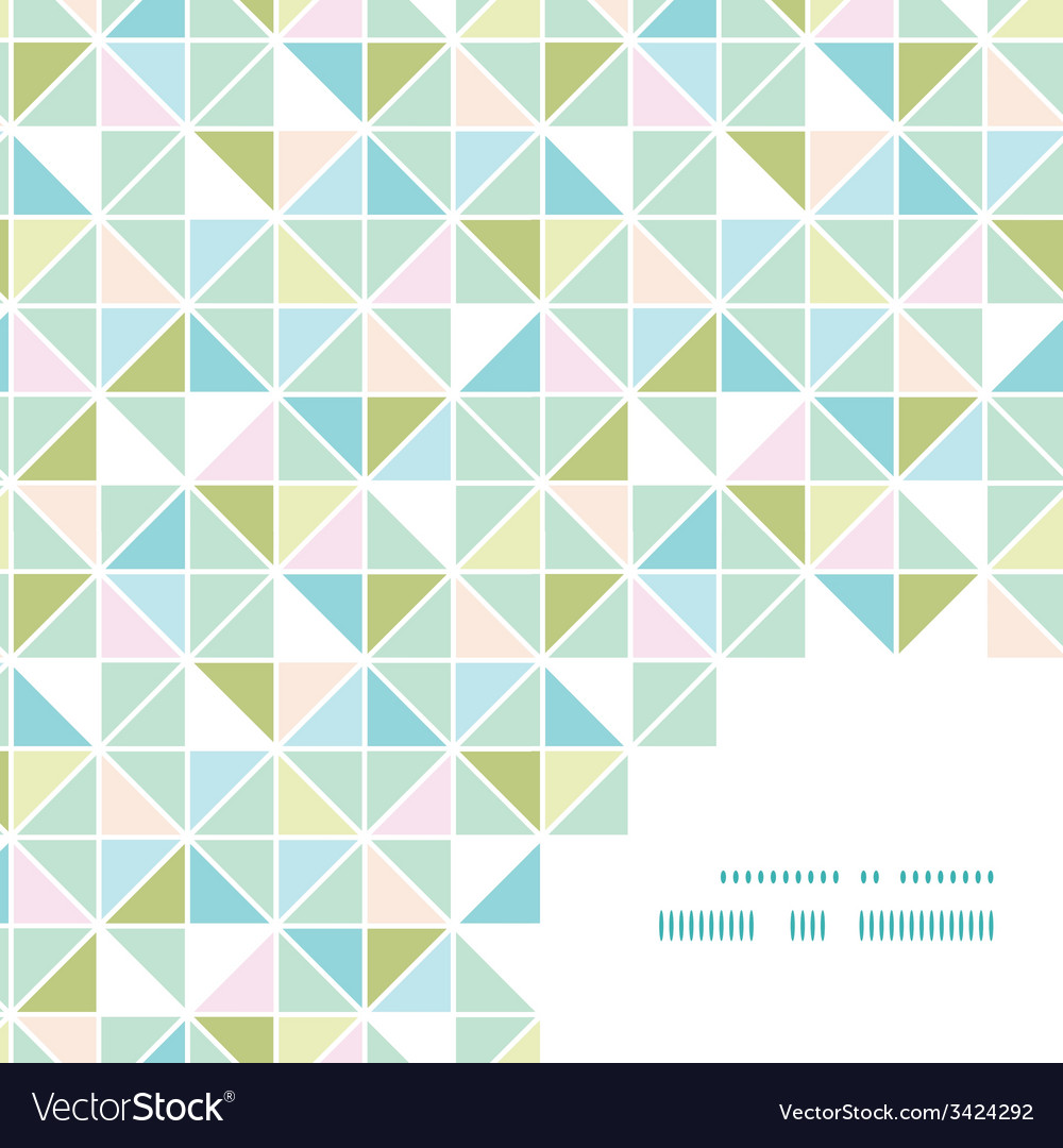 Colorful pastel triangle texture frame corner vector | Price: 1 Credit (USD $1)