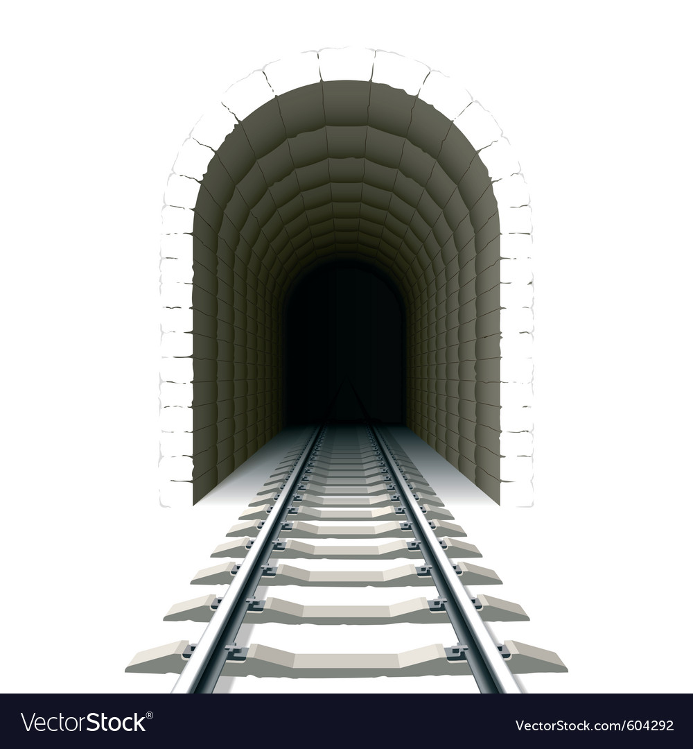 Entrance to railway tunnel vector | Price: 1 Credit (USD $1)
