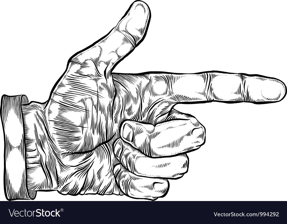 Finger pointing hand vector | Price: 1 Credit (USD $1)