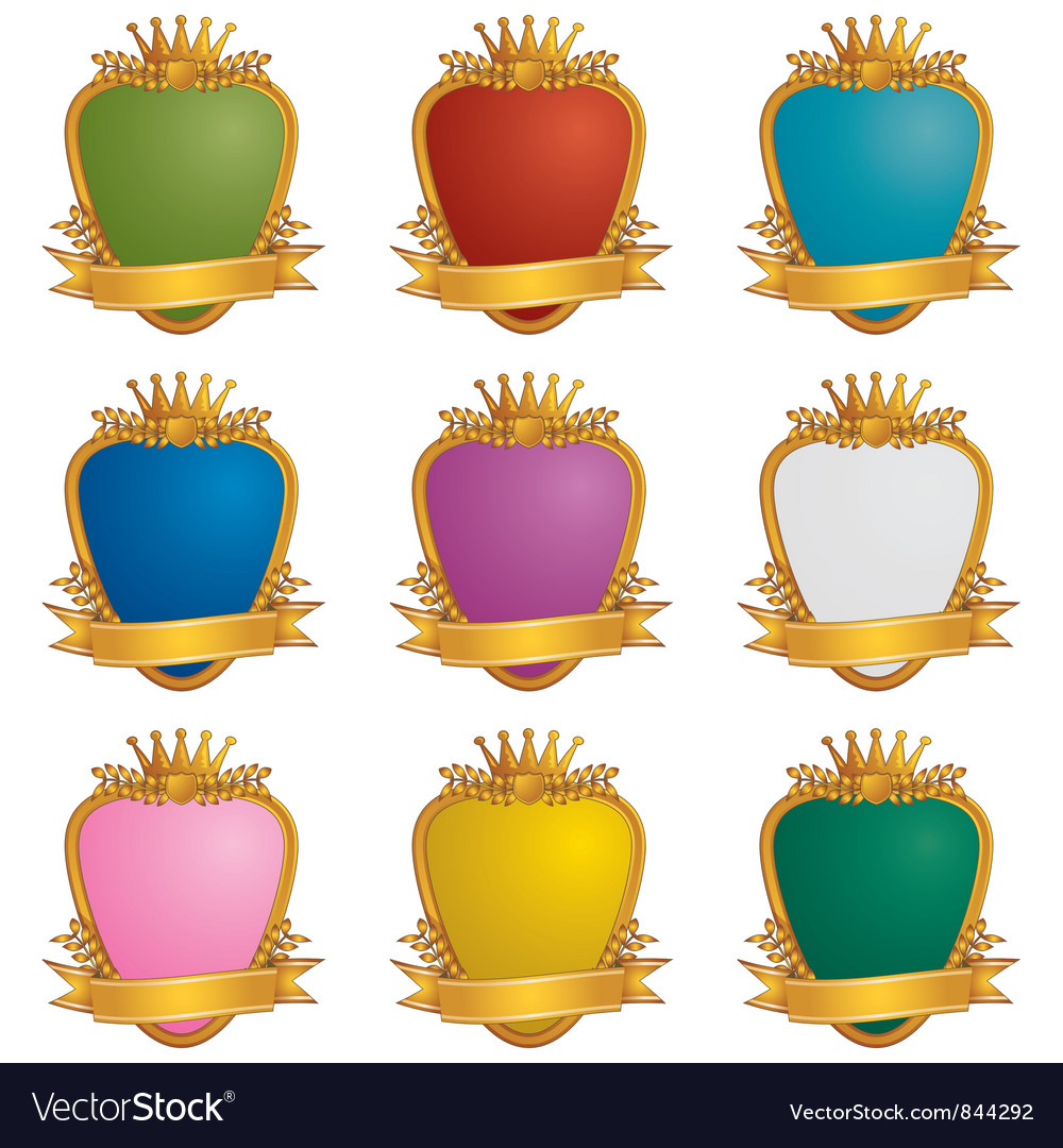 Gold emblems vector | Price: 1 Credit (USD $1)