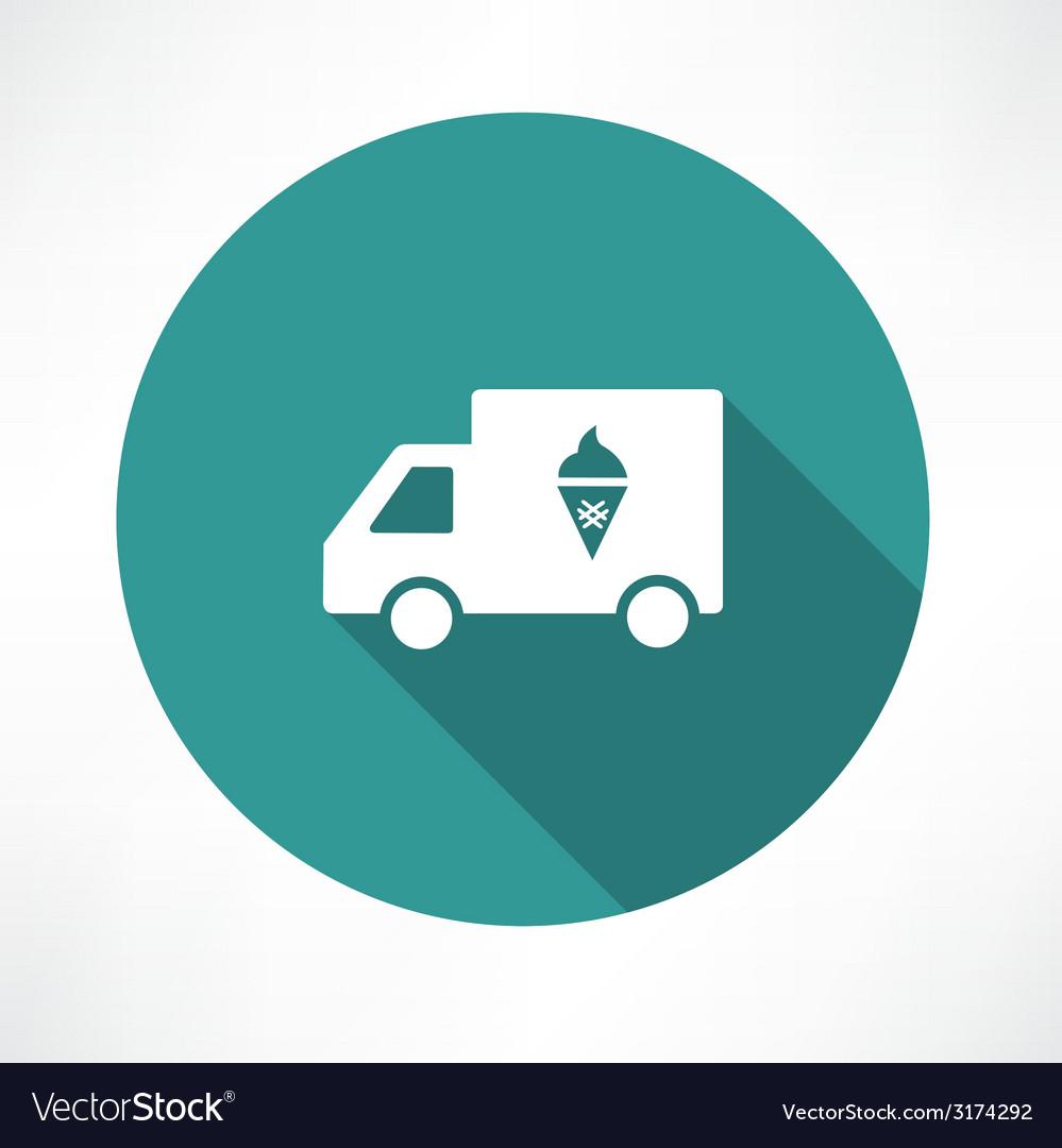 Ice cream truck icon vector | Price: 1 Credit (USD $1)