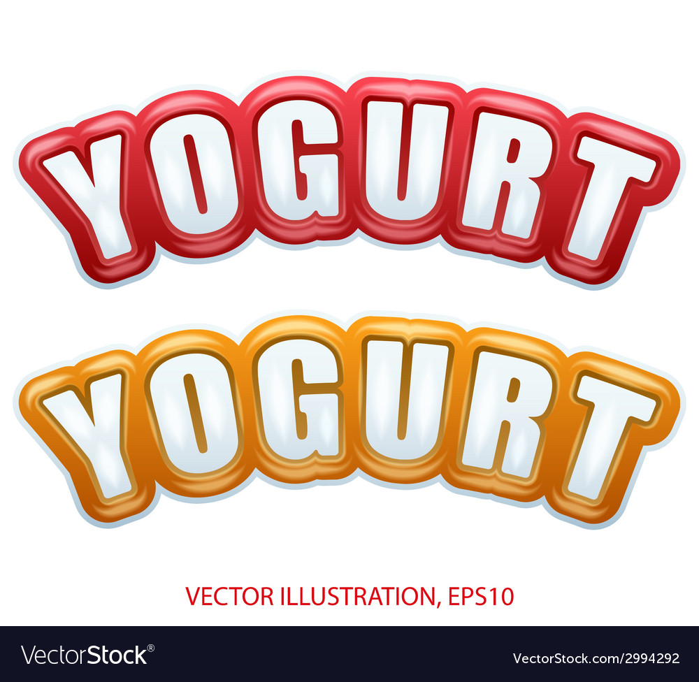 Premium quality collection of yogurt labels with vector | Price: 1 Credit (USD $1)