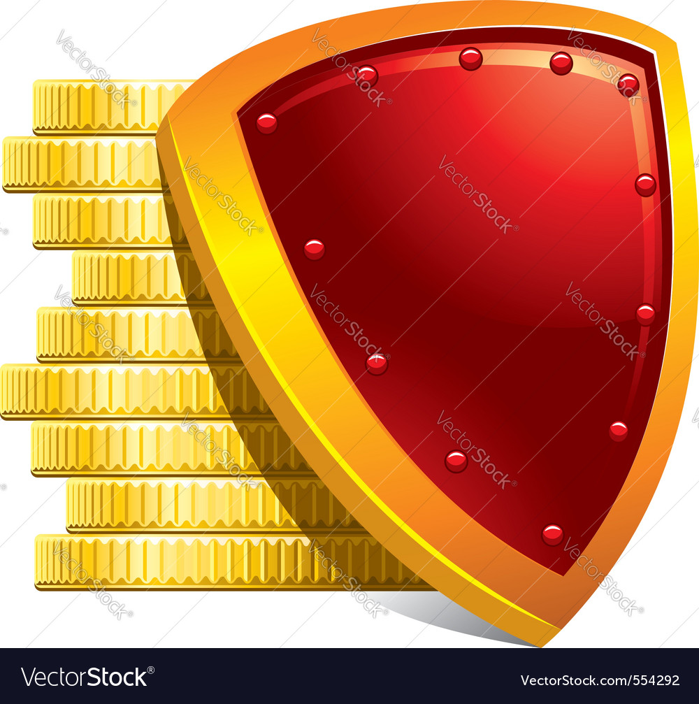 Protection of money and payments detailed vector | Price: 1 Credit (USD $1)