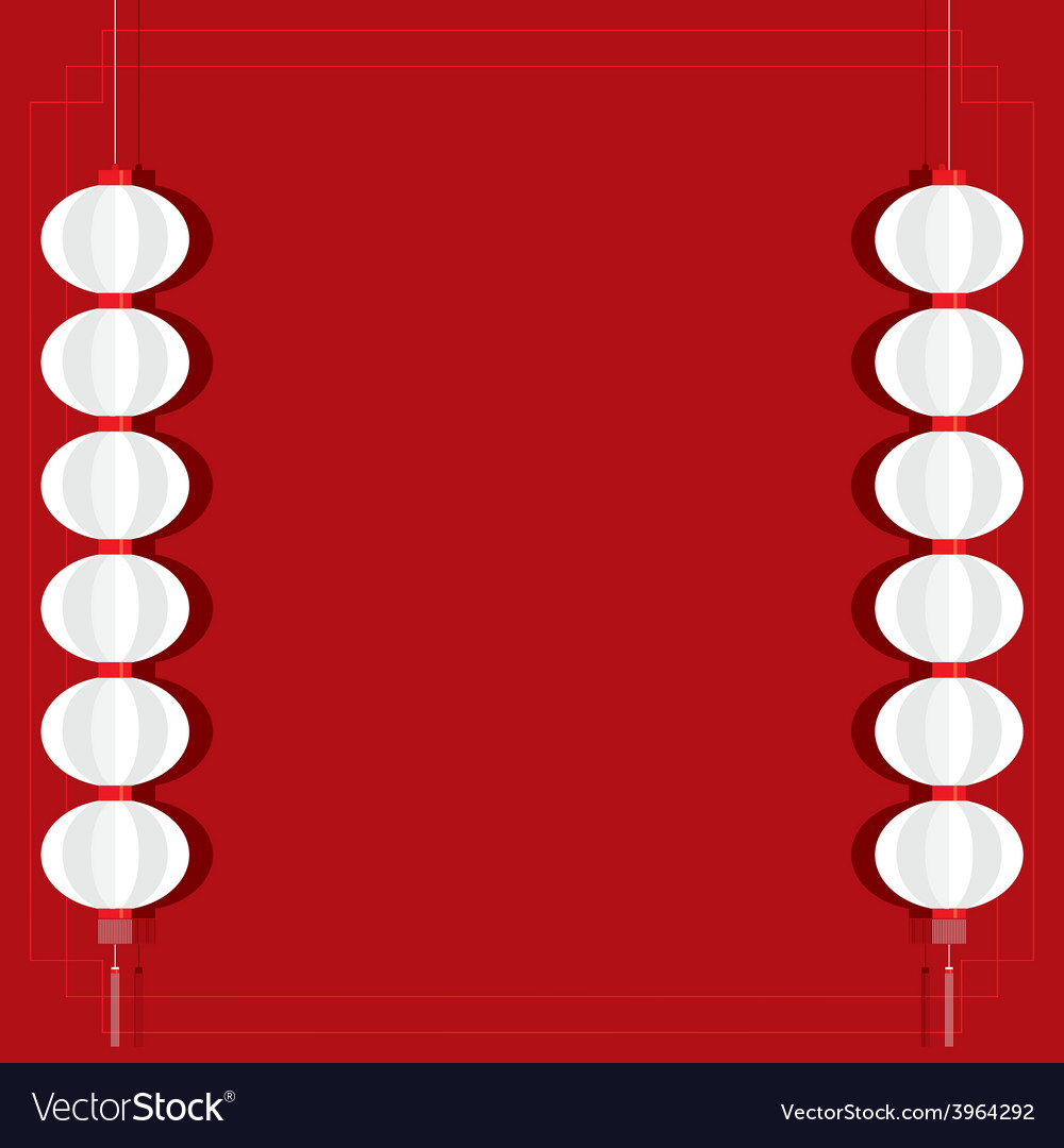Red lantern background template vector | Price: 1 Credit (USD $1)