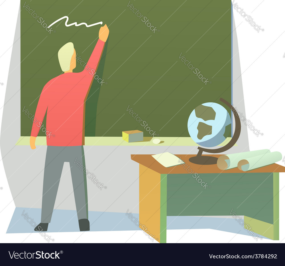 Teacher in a classroom vector | Price: 1 Credit (USD $1)