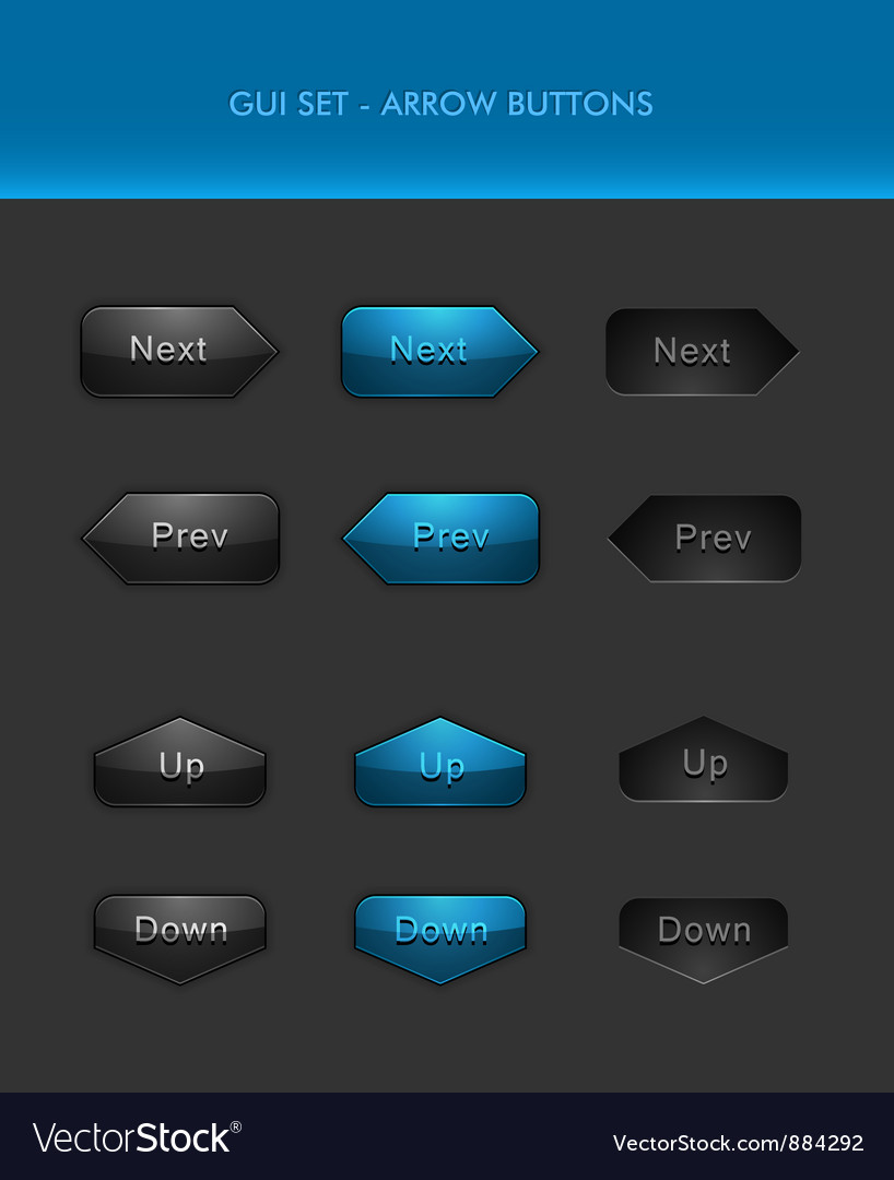 User interface elements - arrow buttons vector | Price: 1 Credit (USD $1)