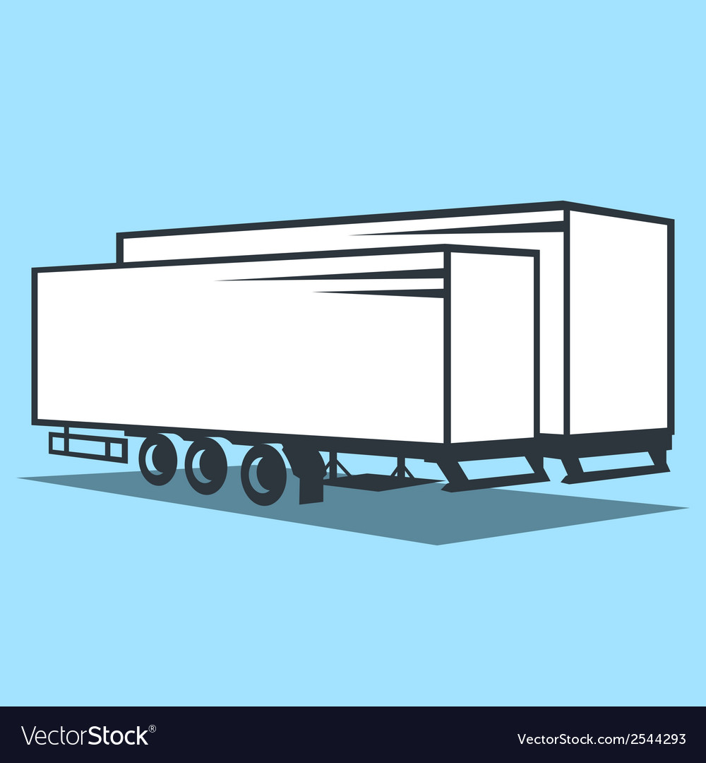 Cargo trailer sign vector | Price: 1 Credit (USD $1)