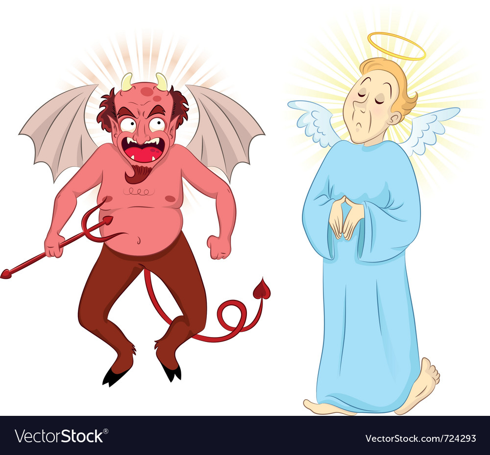 Devil and angel vector | Price: 3 Credit (USD $3)