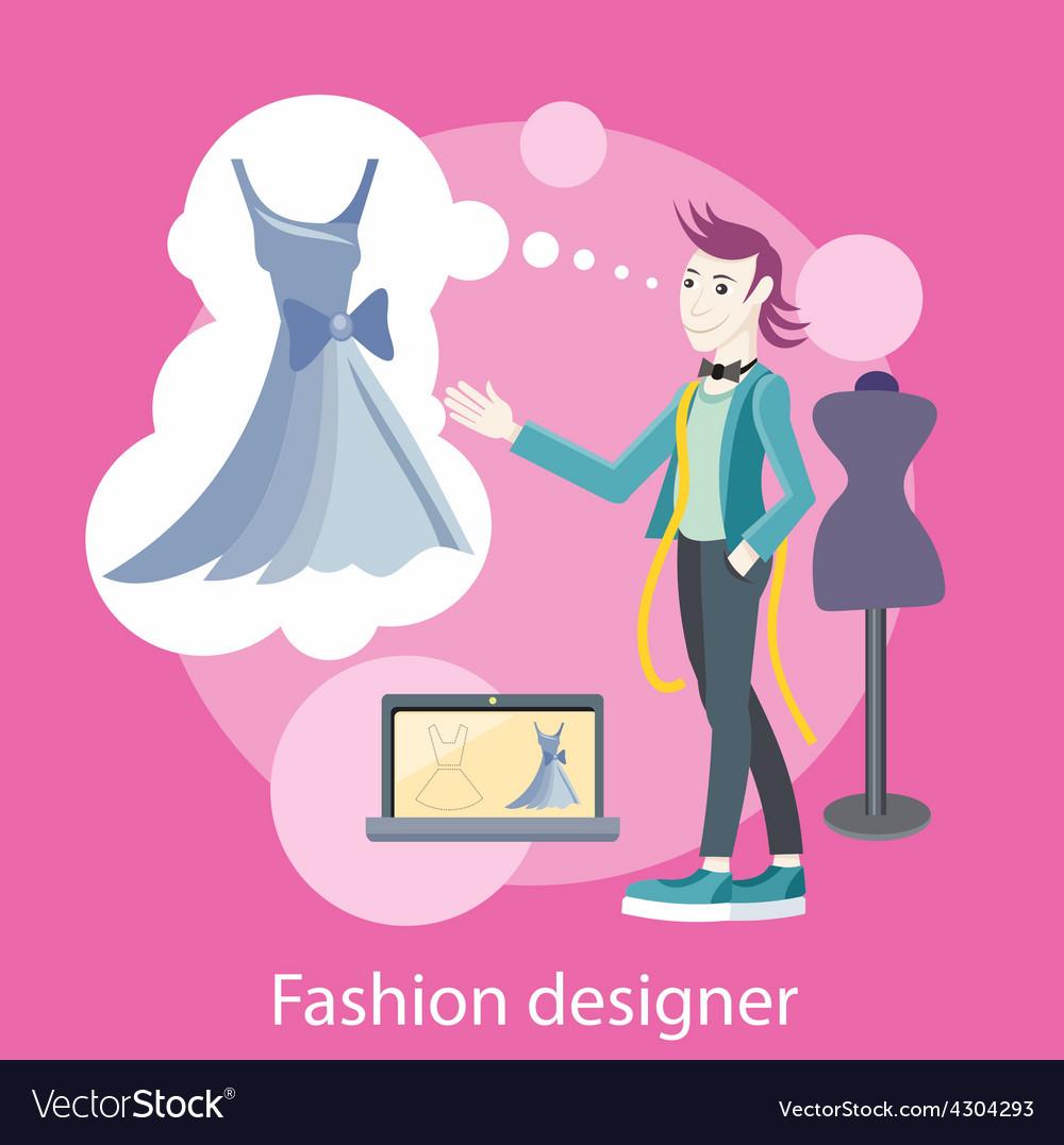 Fashion designer vector | Price: 1 Credit (USD $1)