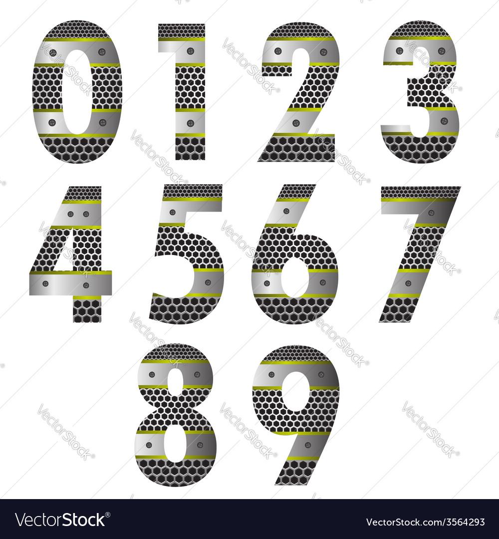 Metal number vector | Price: 3 Credit (USD $3)