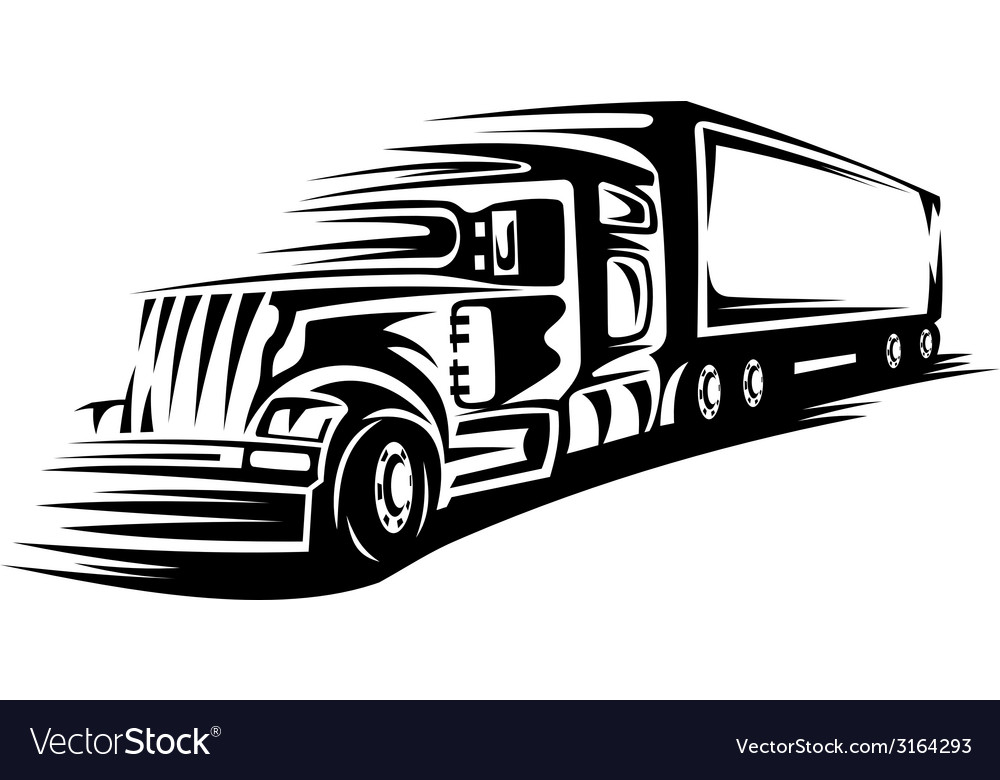 Moving delivery truck vector | Price: 1 Credit (USD $1)