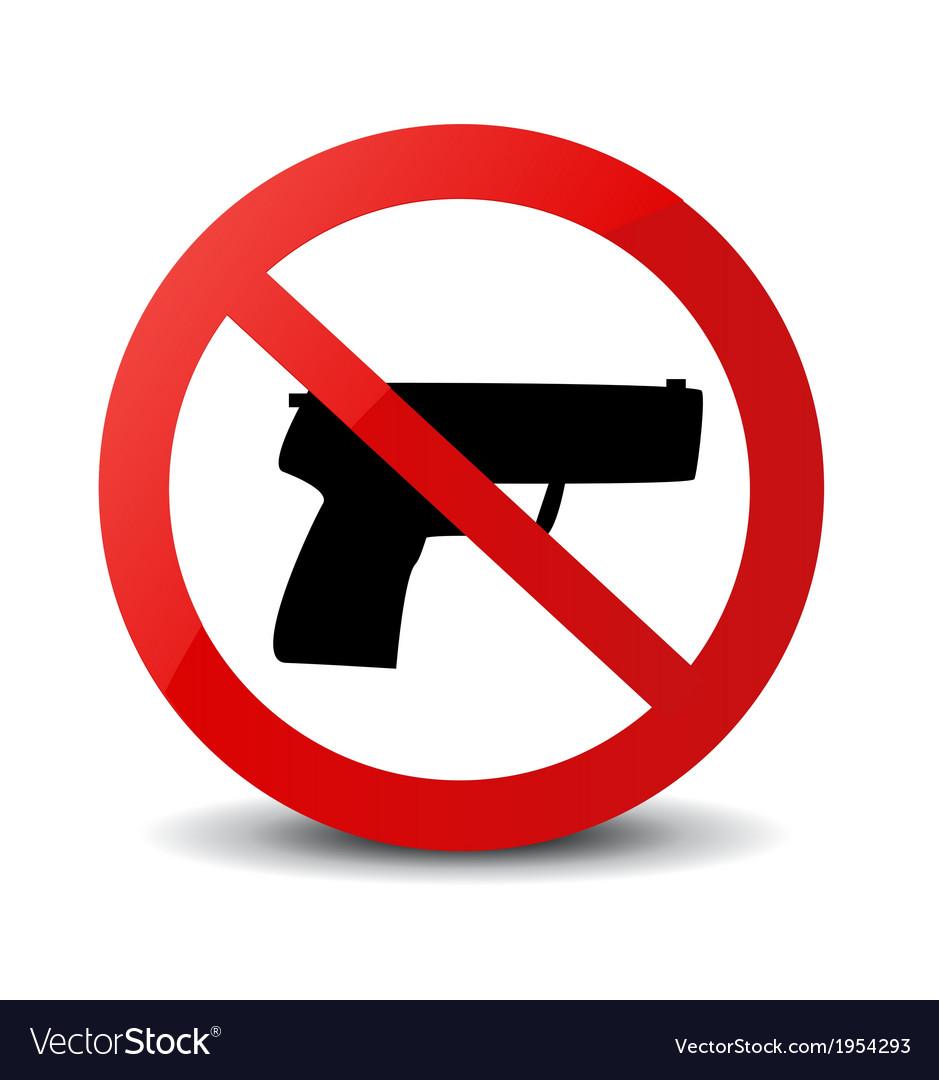 No guns icons vector | Price: 1 Credit (USD $1)