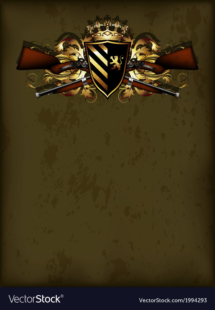 Ornamental shield with arms vector   Price: 1 Credit (USD $1)