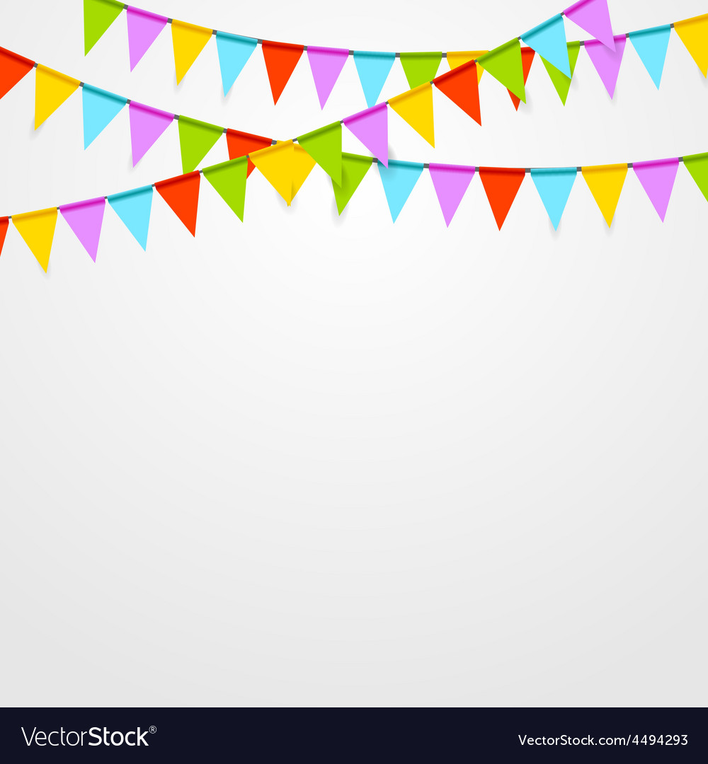 Party flags celebrate bright abstract background vector | Price: 1 Credit (USD $1)