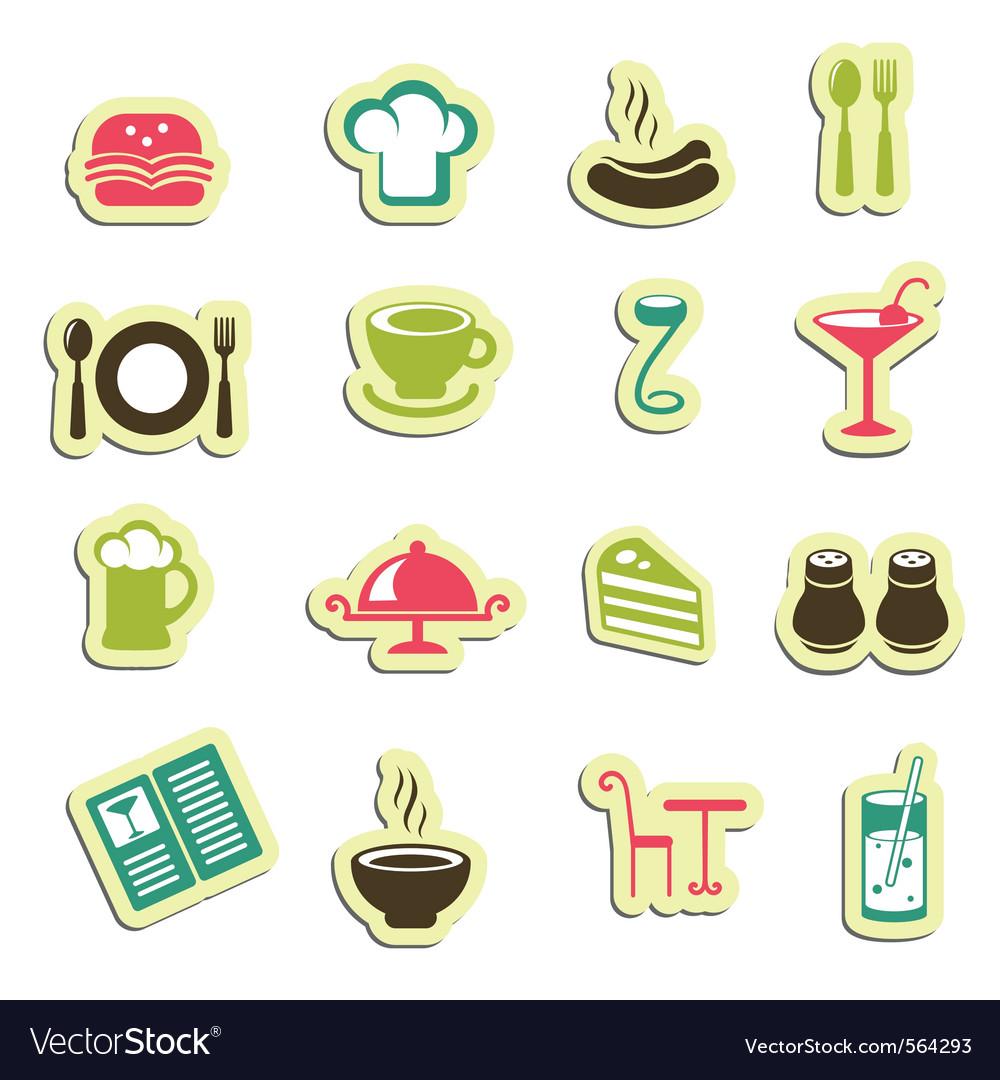 Restaurant icons vector | Price: 1 Credit (USD $1)