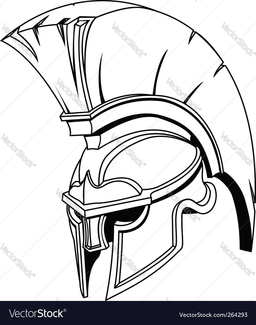 Roman gladiator helmet vector