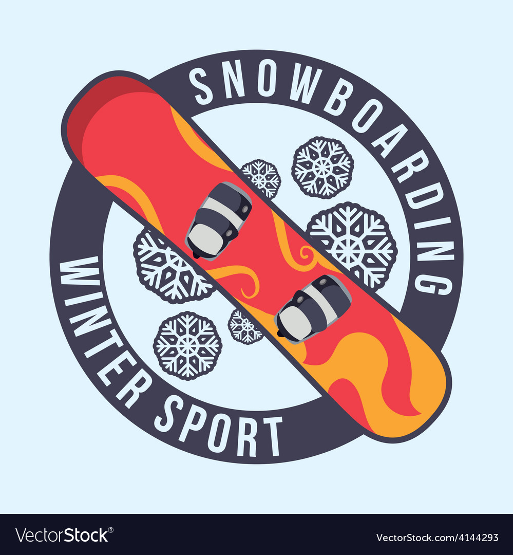 Snowboarding design vector | Price: 1 Credit (USD $1)