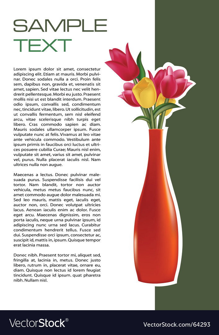 Vase brochure vector | Price: 1 Credit (USD $1)