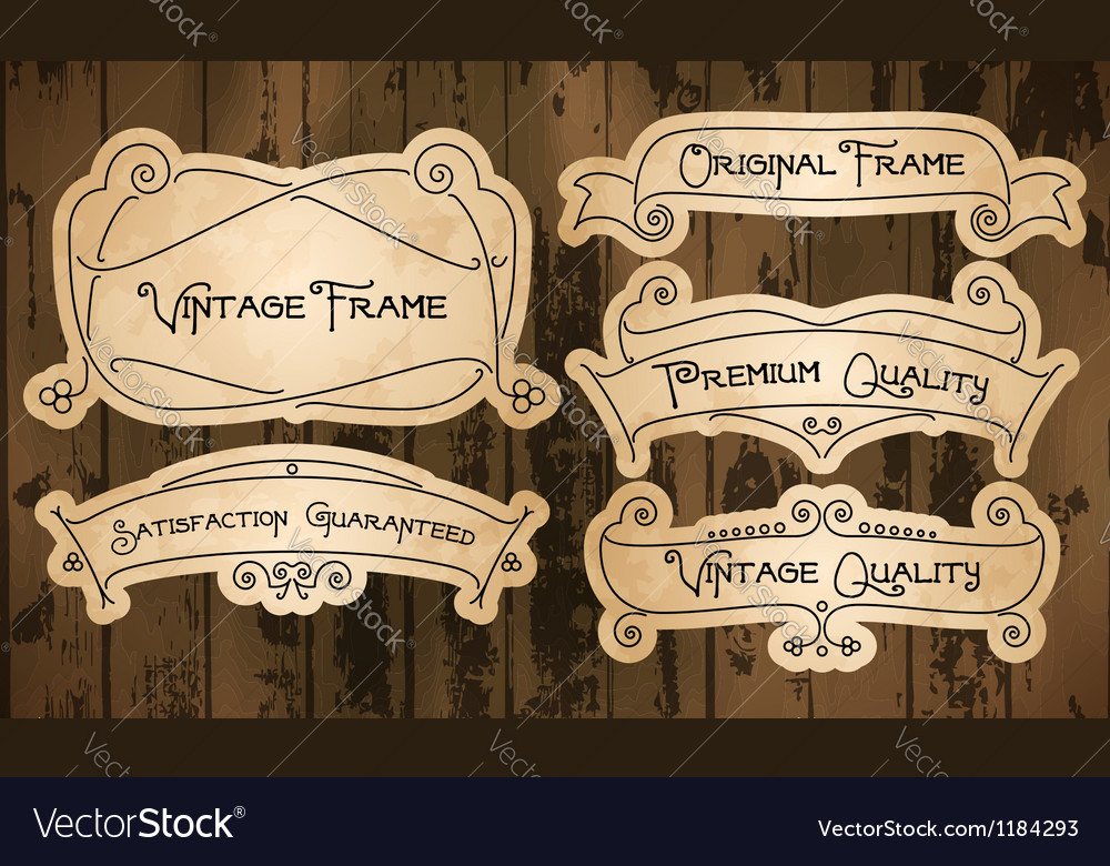 Vintage labels with thin lines vector | Price: 1 Credit (USD $1)