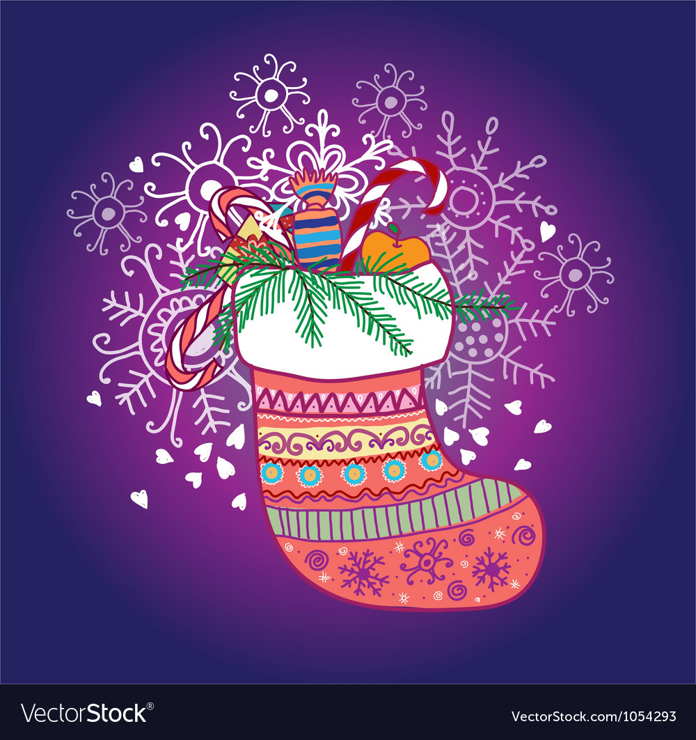 Xmas sock vector | Price: 1 Credit (USD $1)