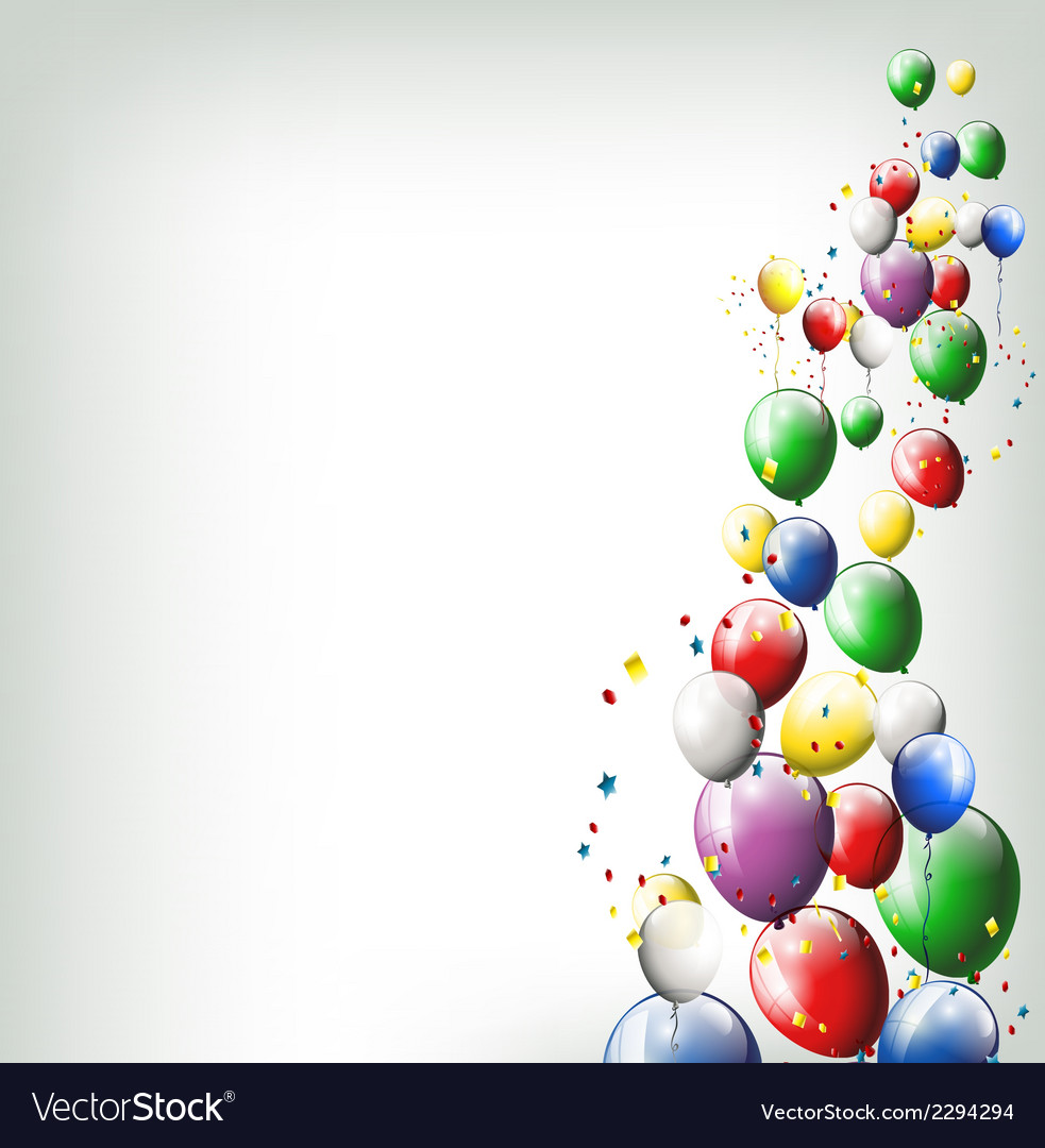 Balloons background for you design vector | Price: 1 Credit (USD $1)