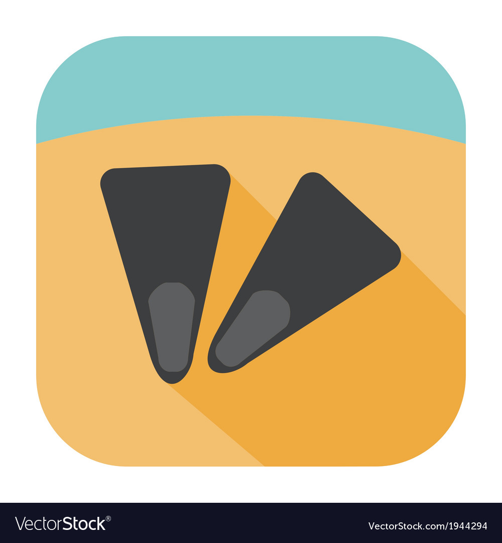 Flippers icon vector | Price: 1 Credit (USD $1)