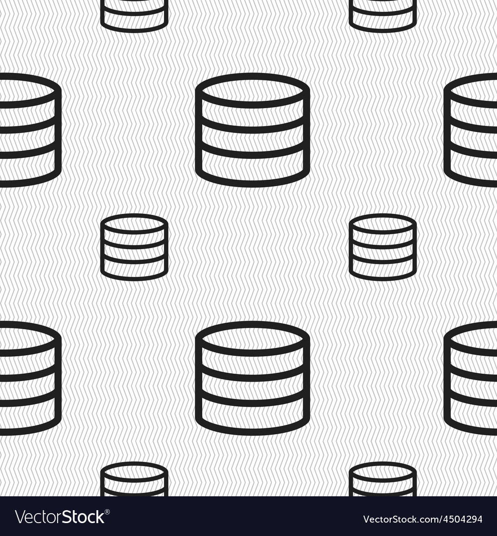 Hard disk and database icon sign seamless pattern vector | Price: 1 Credit (USD $1)