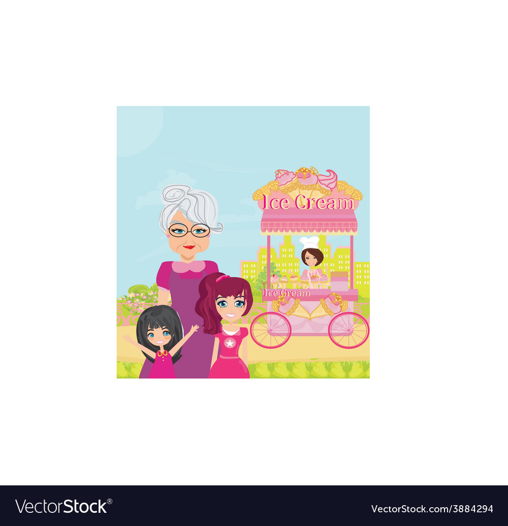 Ice cream mobile shop vector | Price: 1 Credit (USD $1)