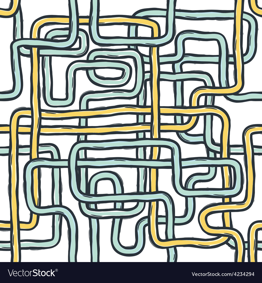 Tangled pipes seamless vector | Price: 1 Credit (USD $1)