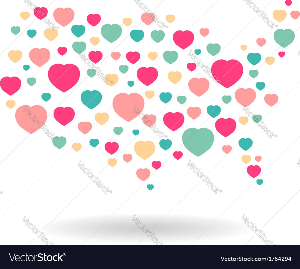 Usa pattern hearts map vector | Price: 1 Credit (USD $1)