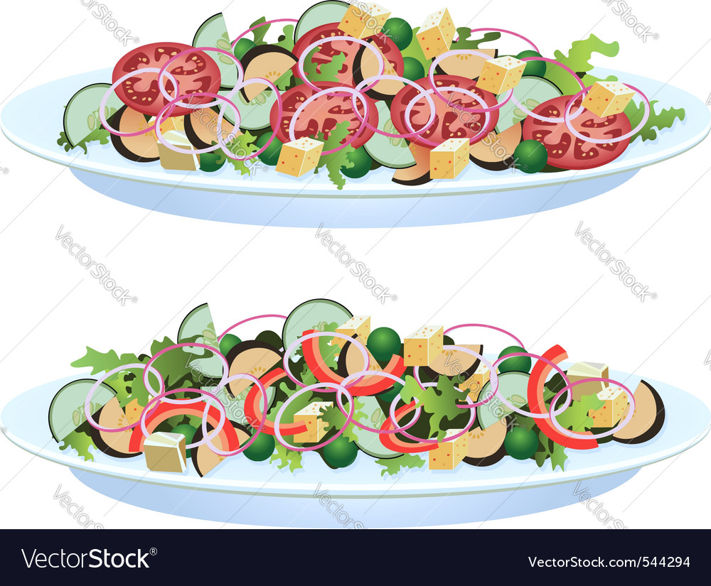 Vegetable salads vector | Price: 1 Credit (USD $1)