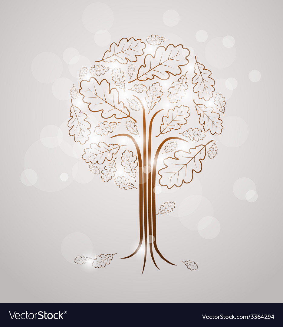 Vintage abstract tree drawing vector | Price: 1 Credit (USD $1)
