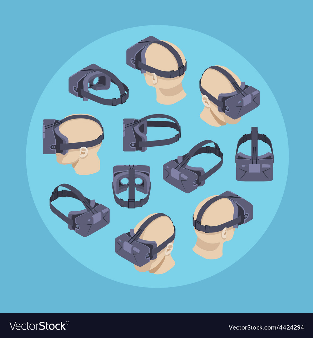 Virtual reality headset vector | Price: 1 Credit (USD $1)