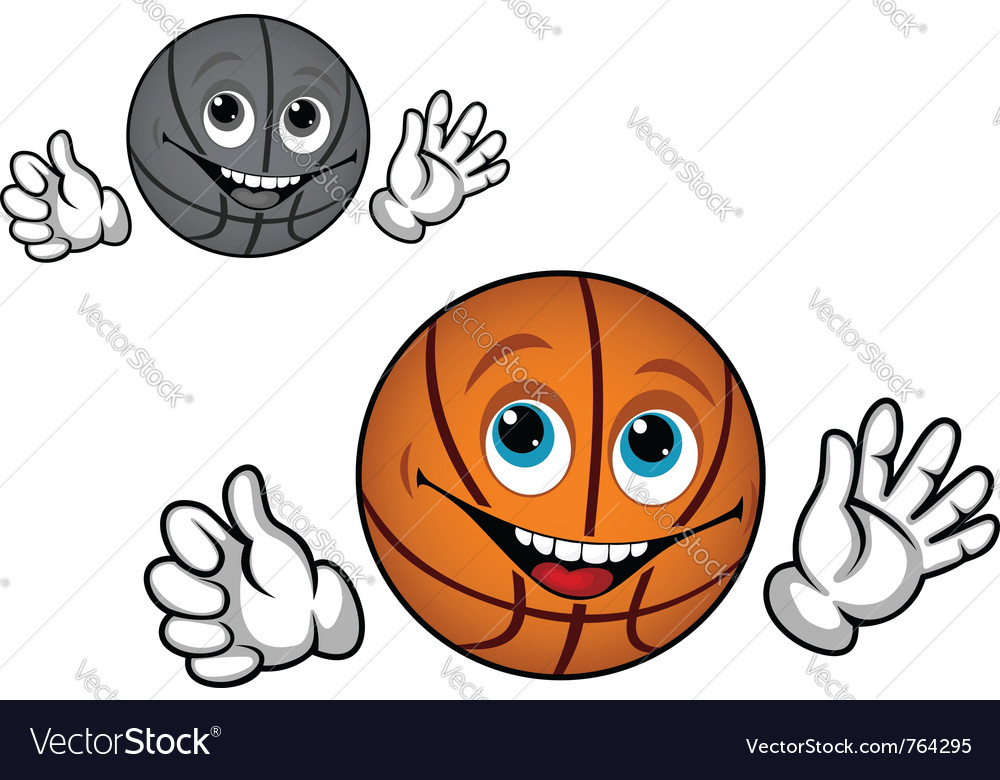 Basketball ball cartoon vector | Price: 1 Credit (USD $1)