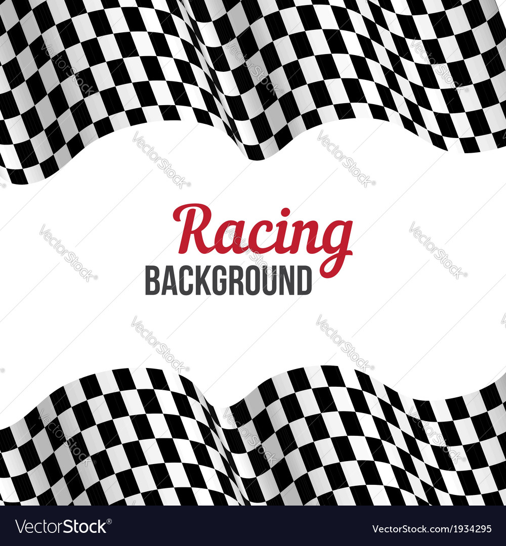Checkered racing flag vector | Price: 1 Credit (USD $1)