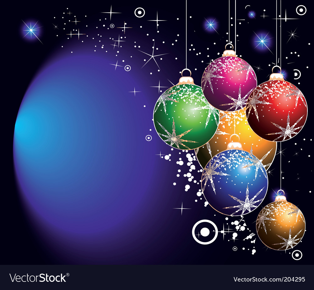 Christmas balls background vector | Price: 3 Credit (USD $3)