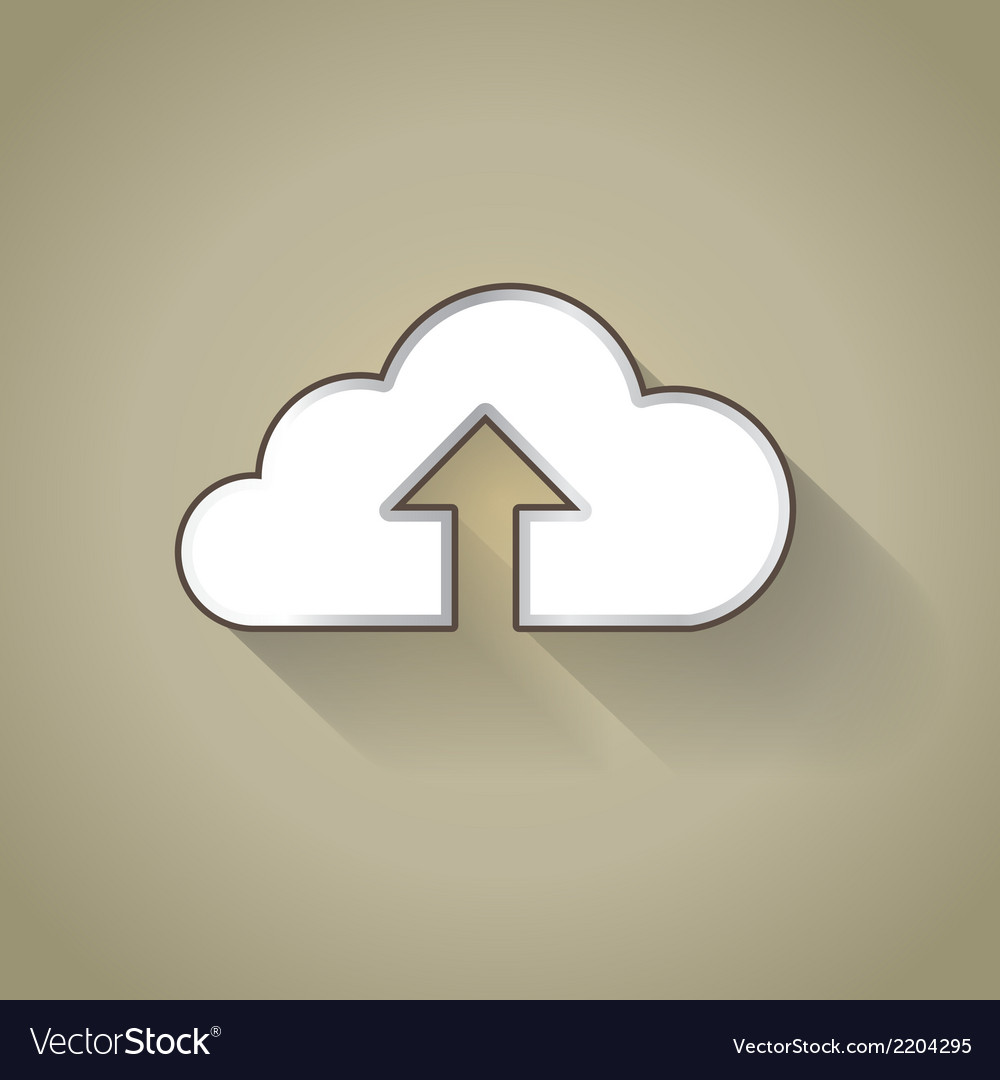 Cloud uploading vector | Price: 1 Credit (USD $1)